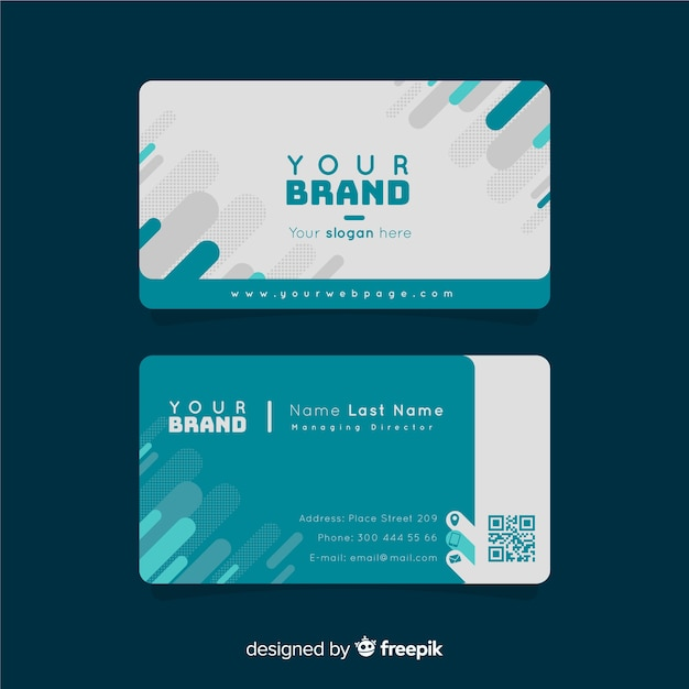 Creative business card template with geometric shapes vector free creative business card template with geometric shapes free vector fbccfo Image collections