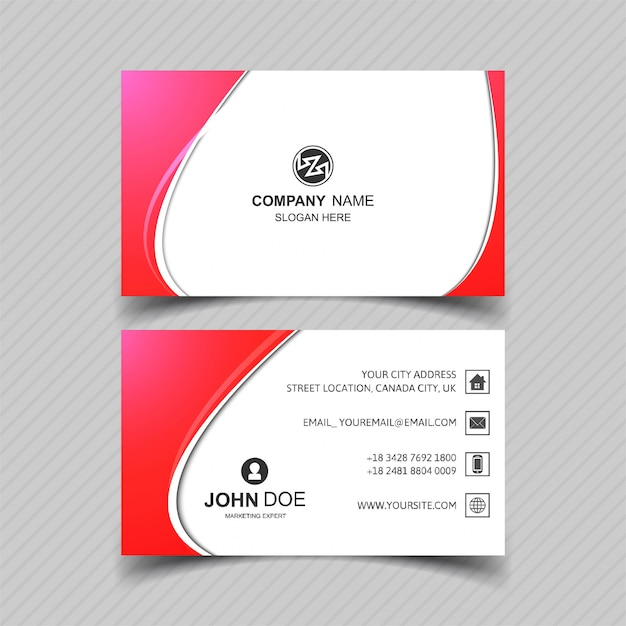 Creative business card template with wave design vector free download creative business card template with wave design free vector wajeb Images