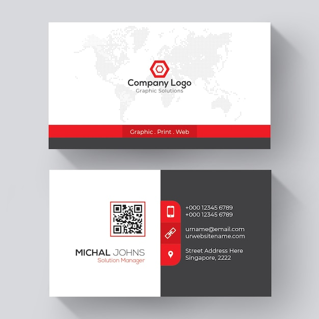 Creative business card template Free Vector