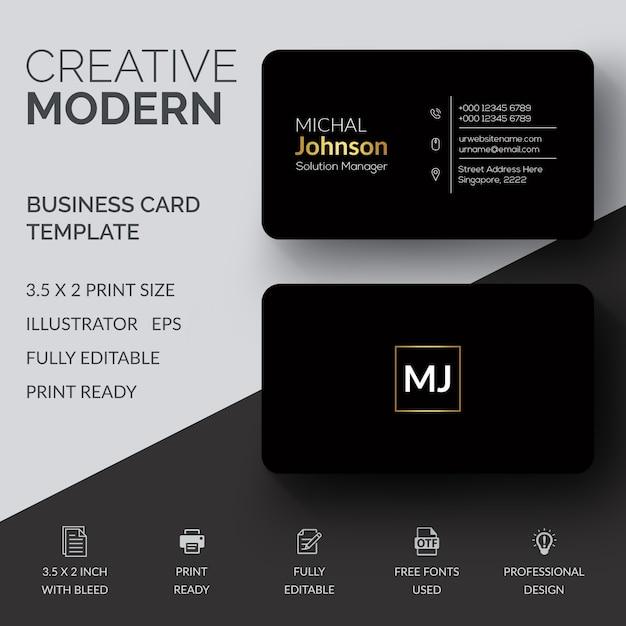 Creative Business Card Template Vector Premium Download - 2 x 35 business card template