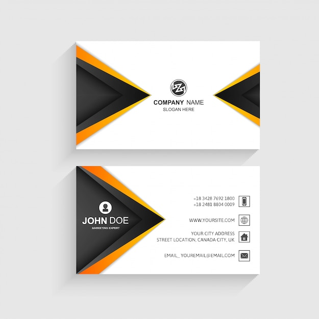 Creative business card wave template Free Vector