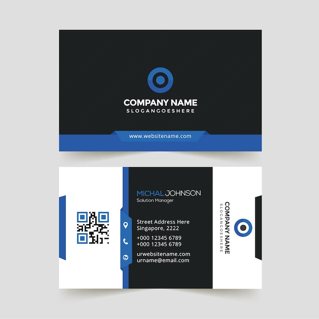 Creative business card Premium Vector