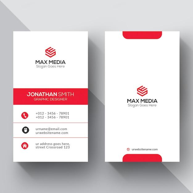 premium vector  creative business card