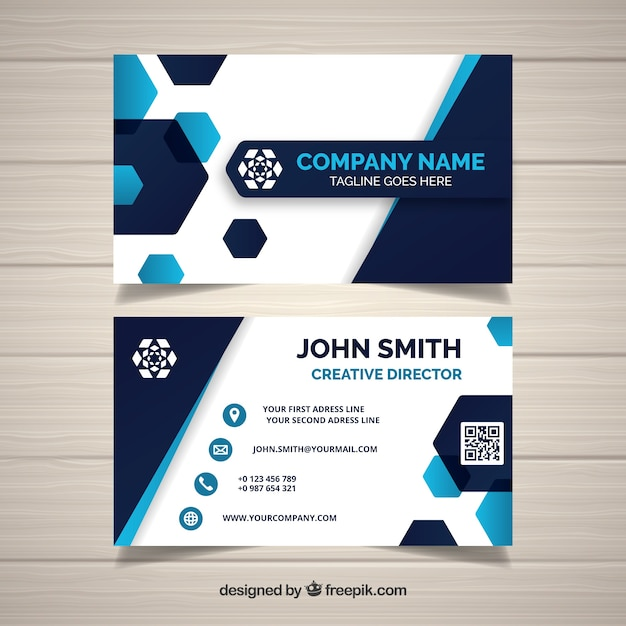 Creative business card vector free download creative business card free vector reheart Choice Image