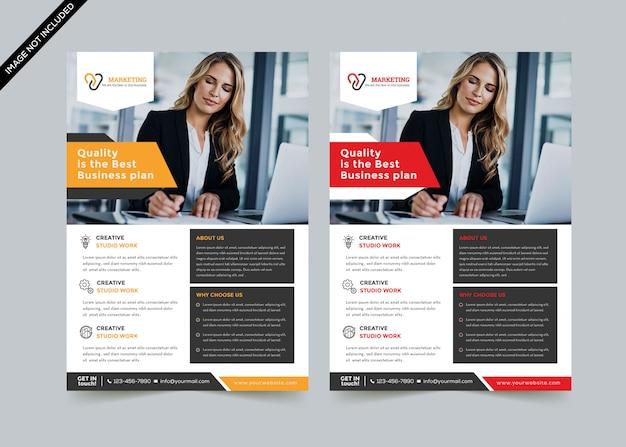 Creative business flyer template premium vector Premium Vector