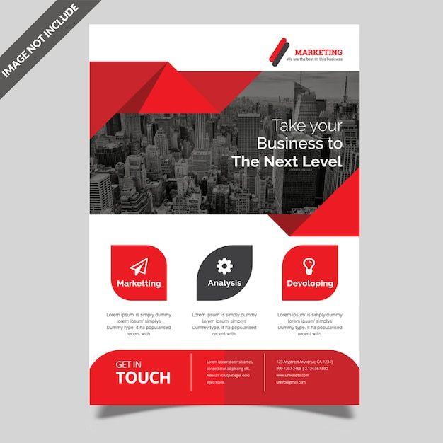 Creative business flyer template Premium Vector