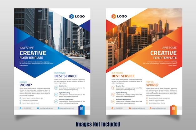 Creative business flyer Premium векторы
