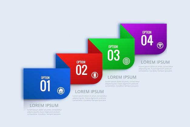 크리 에이 티브 비즈니스 infographic 개념 웹 배너 디자인 무료 벡터