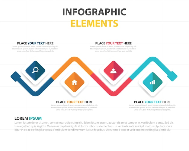 Creative business infographic template