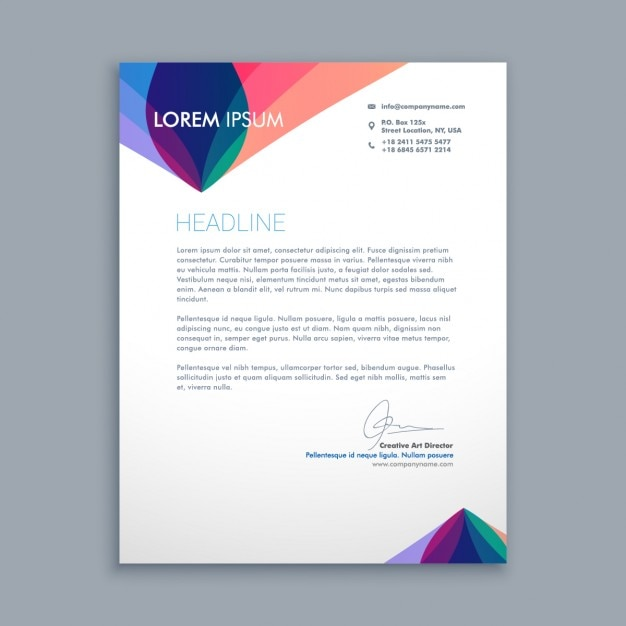 creative business letter free vector