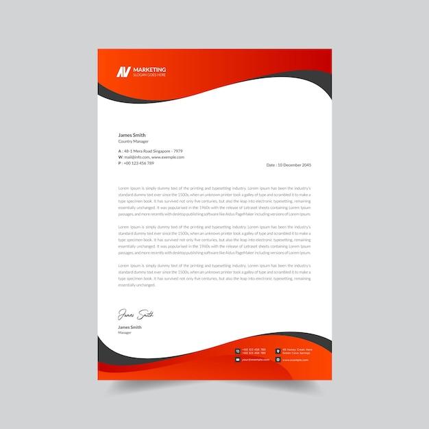 Creative business letterhead design template premium vector Premium Vector