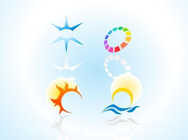 Creative business logo emblems vector