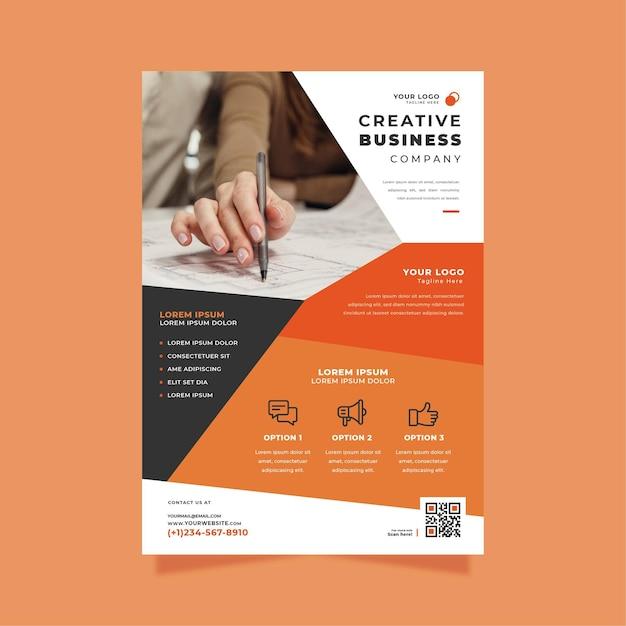 크리 에이 티브 비즈니스 포스터 인쇄 템플릿 무료 벡터