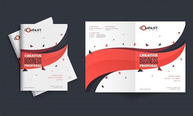 Creative business proposal design corporate template layout with creative business proposal design corporate template layout with front back pages presen premium vector cheaphphosting Images