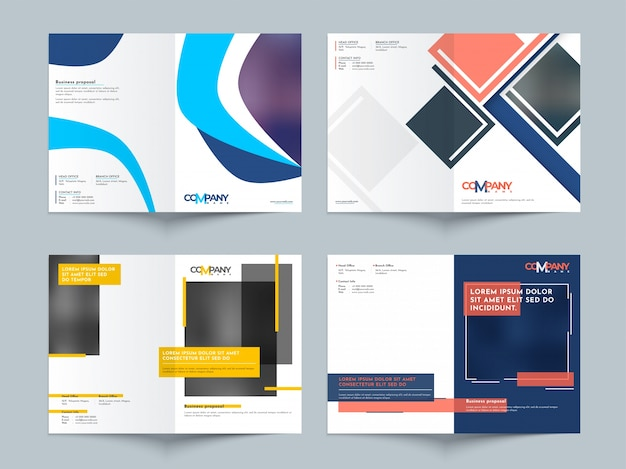 Creative Business Proposal Design Corporate Template Layout Vector