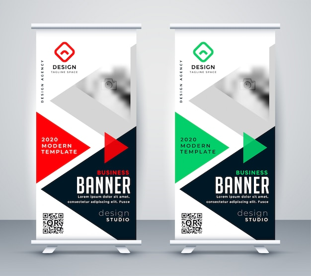 Creative business rollup standee banner Free Vector