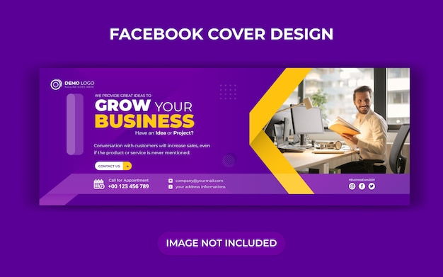 Creative business social media banner template with facebook cover design Premium Vector