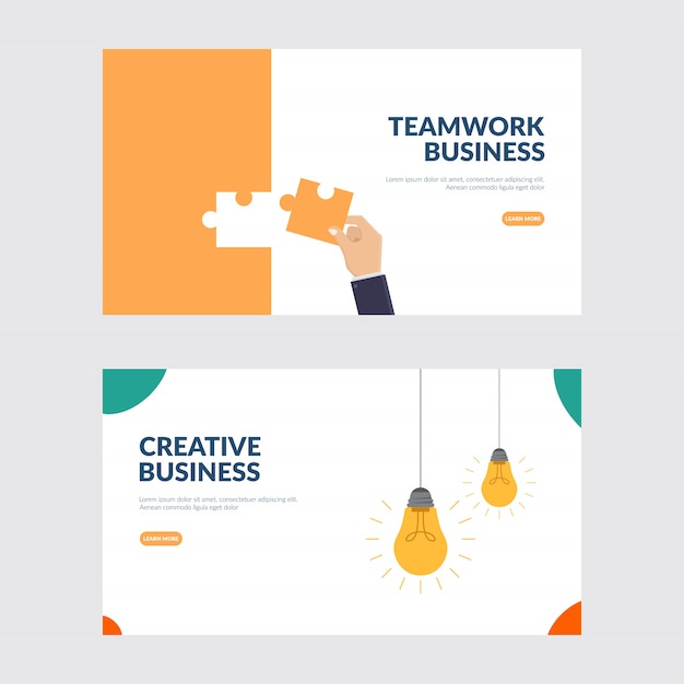 Creative business and teamwork illustration Premium Vector