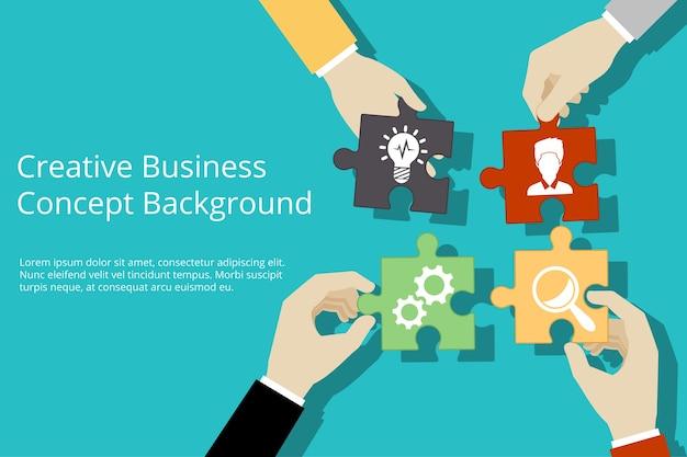 Творческий бизнес-шаблон Бесплатные векторы