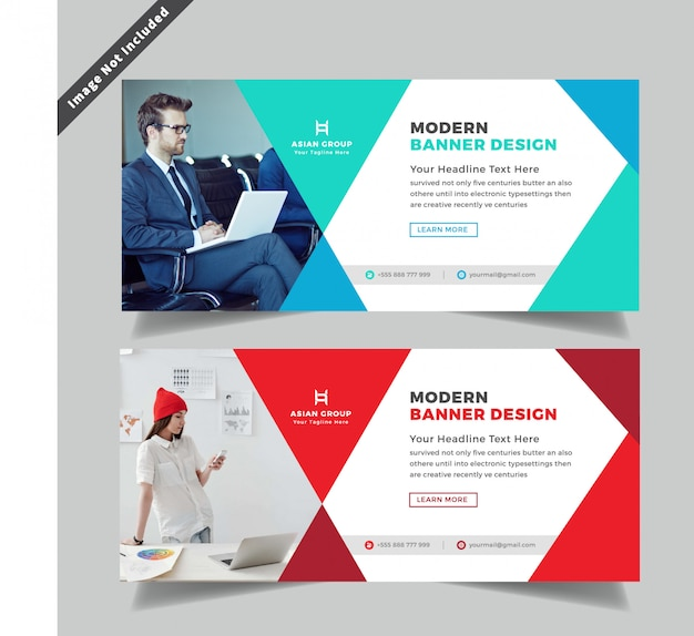 Creative Business Web Banner Design Premium Vector