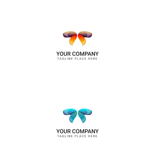 Creative butterfly logo design - vector Premium Vector