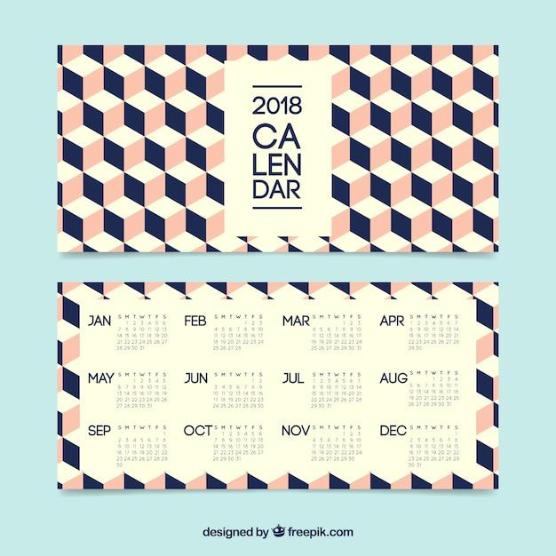 Creative calendar 2018 Vector Free Download