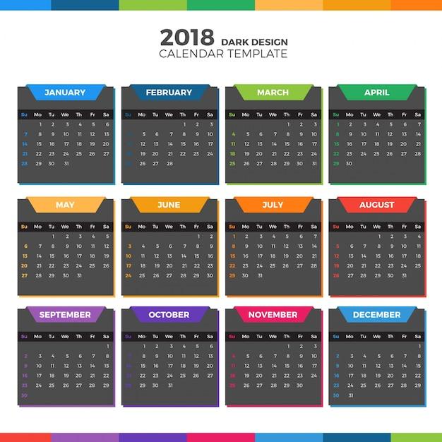 Creative Calendar Template Image Collections Template Design Free