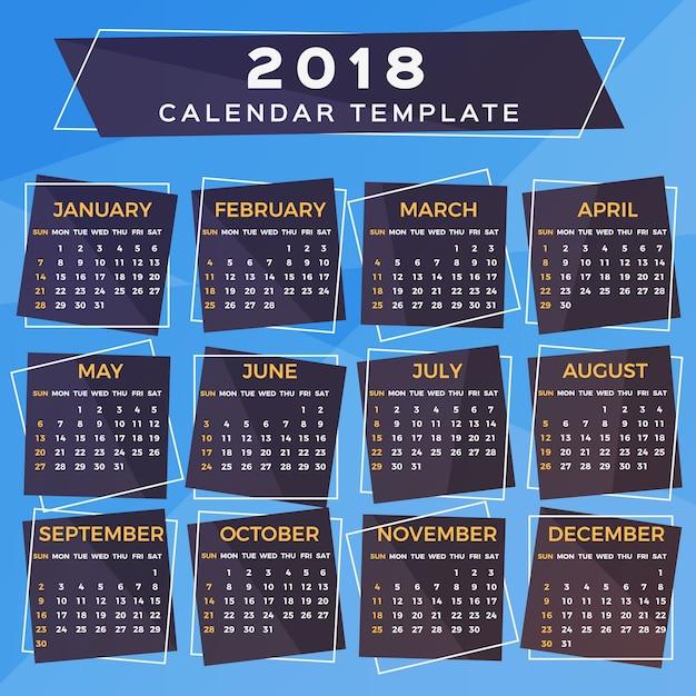 Creative Calendar Template Vector Premium Download