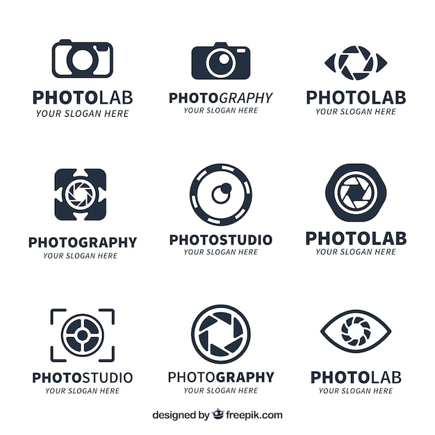 Creative camera logo collection