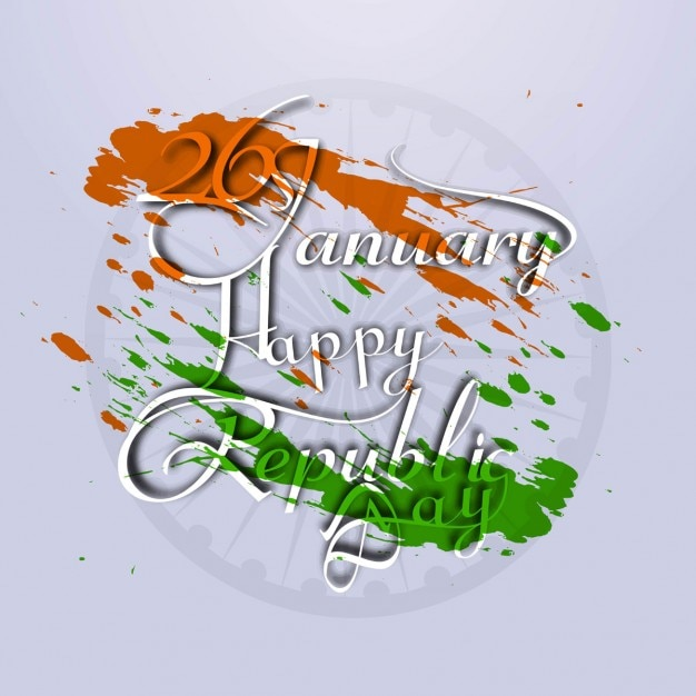Creative Card Of Happy Republic Day Vector Free Download
