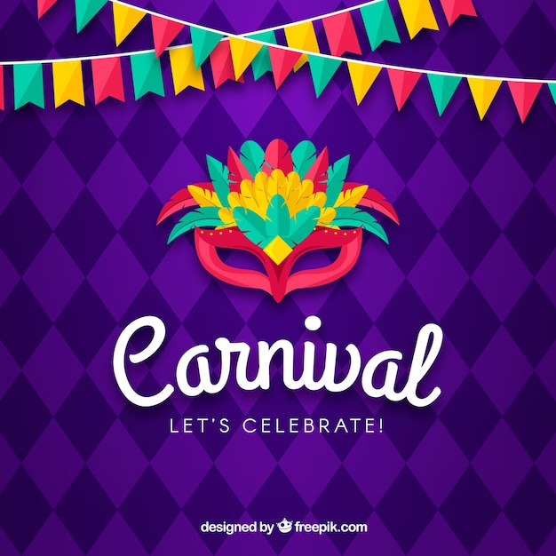 Creative carnival background Free Vector