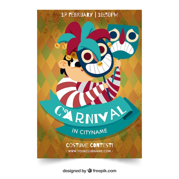 creative carnival party flyer template vector free download