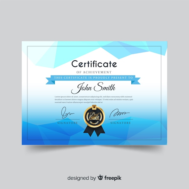 Creative Certificate Template In Abstract Style Vector Free Download
