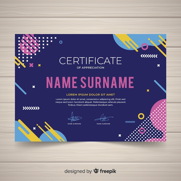 Creative Certificate Template Concept Vector Free Download