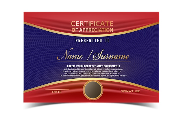 Creative certificate template for completion award with golden creative certificate template for completion award with golden shapes and badgeean and modern for yelopaper Image collections