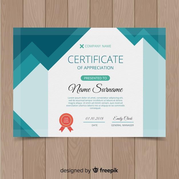 Creative Certificate Template Vector Free Download