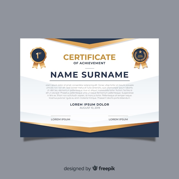 Creative certificate template Free Vector