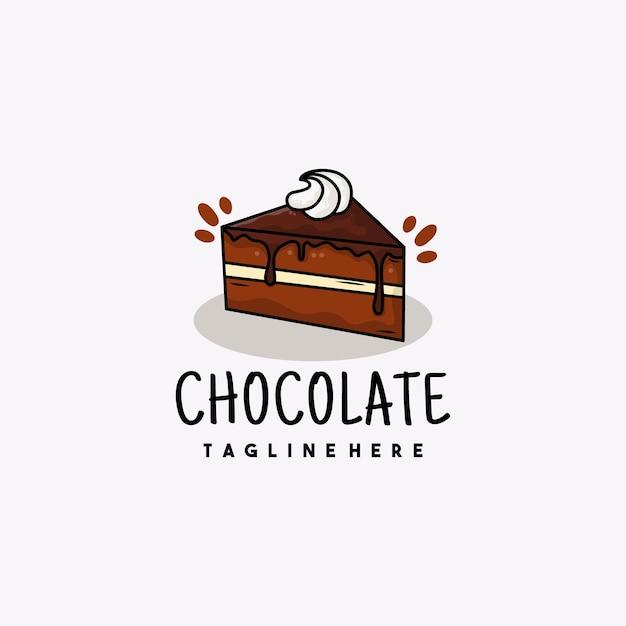 クリエイティブチョコレートイラストロゴデザイン Premiumベクター