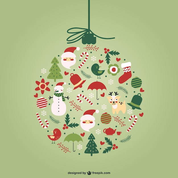 Creative Christmas ball vector