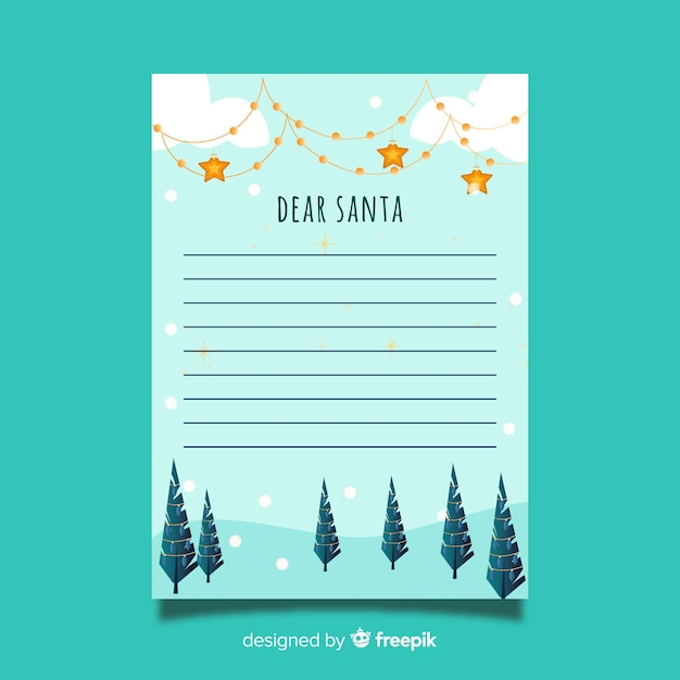 creative christmas letter template free vector