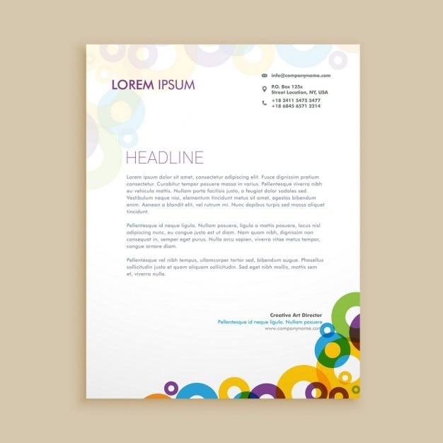 Creative circle shapes letterhead vector free download creative circle shapes letterhead free vector spiritdancerdesigns