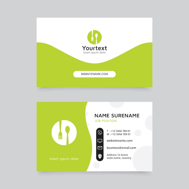 Creative and clean business card template Premium Vector