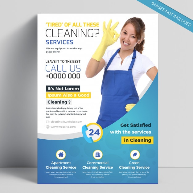 Creative Cleaning Service Flyer Template Vector Premium Download