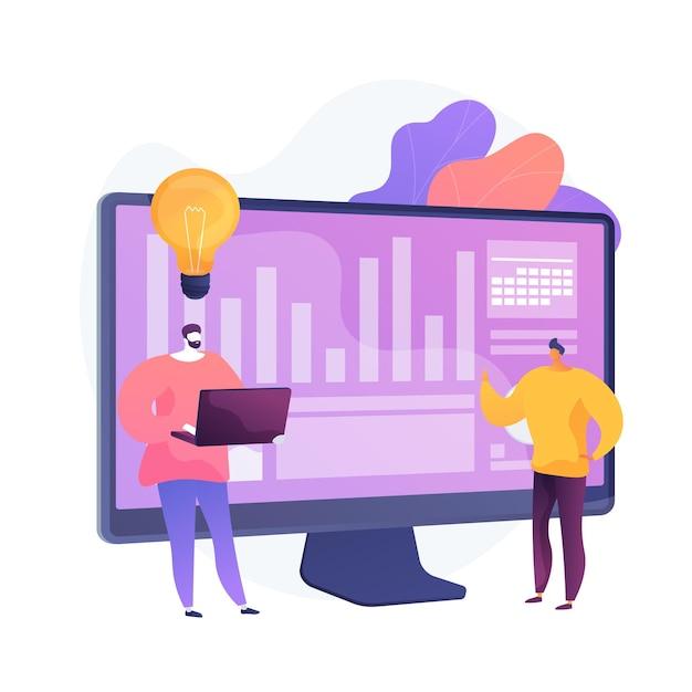クリエイティブなコラボレーション。プログラム開発。成功した協力、コワーキングブレインストーミング、効果的なチームワーク。タスクについて話し合う同僚。アイデアが生まれます。ベクトル分離概念比喩イラスト 無料ベクター