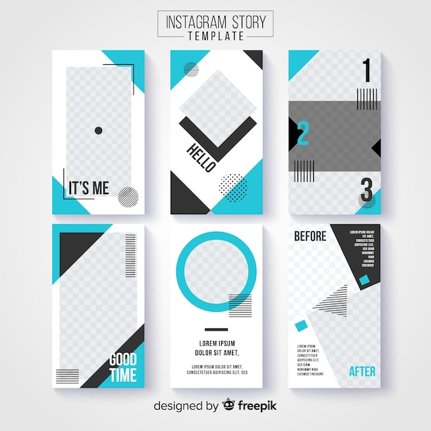 Creative collection of instagram stories Vector | Free Download