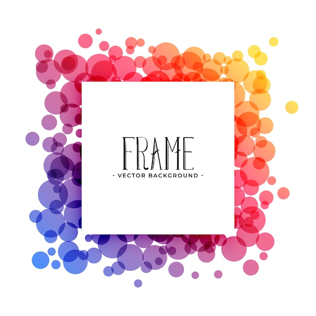 Creative colorful circles frame background Free Vector