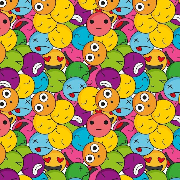 Modello di emoticon colorate creative Vettore gratuito