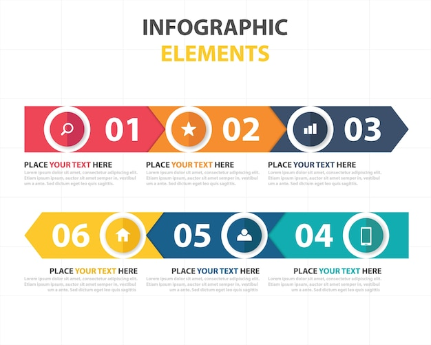 Creative colorful infographic business template