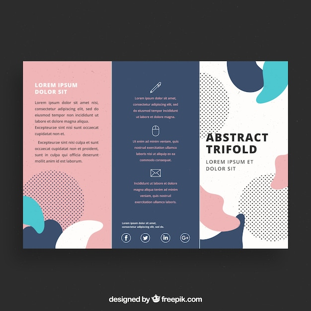 Creative colorful trifold business brochure template for Creative brochure template