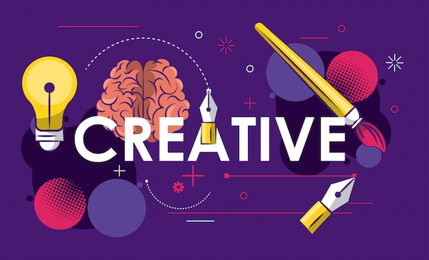Creative colors and ideas Premium Vector